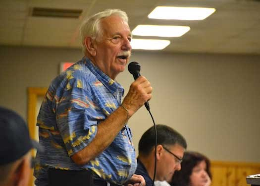 Mike Waterhouse, retired sports fishing promotion coordinator for Orleans County, served as the emcee of the awards program at the Carlton Recreation Hall.